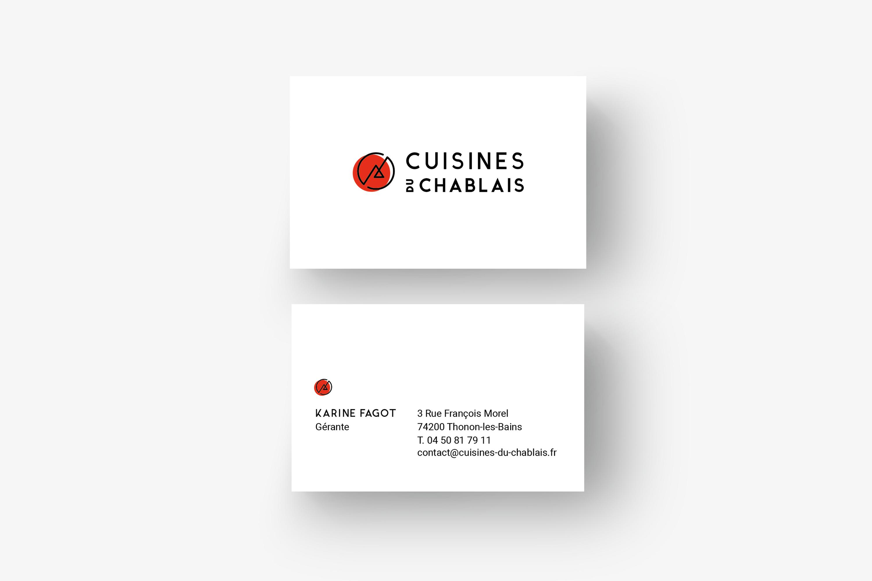 Réalisation de support imprimé Cuisines du Chablais à Evian, Thonon et Annemasse