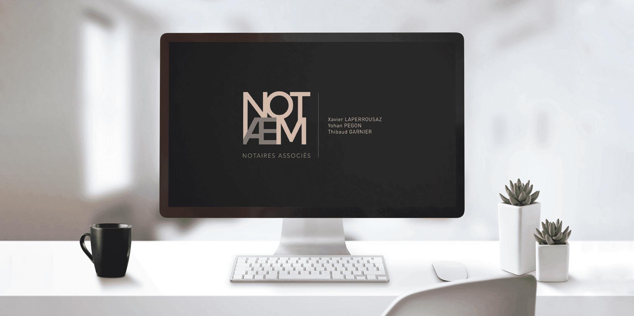 Élaboration d'identité visuelle Notaem La Marketerie agence web à Evian, Thonon et Annemasse