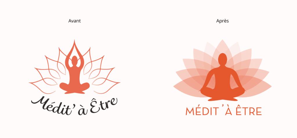 Refonte de logo La Marketerie agence de communication de proximité à Evian, Thonon et Annemasse