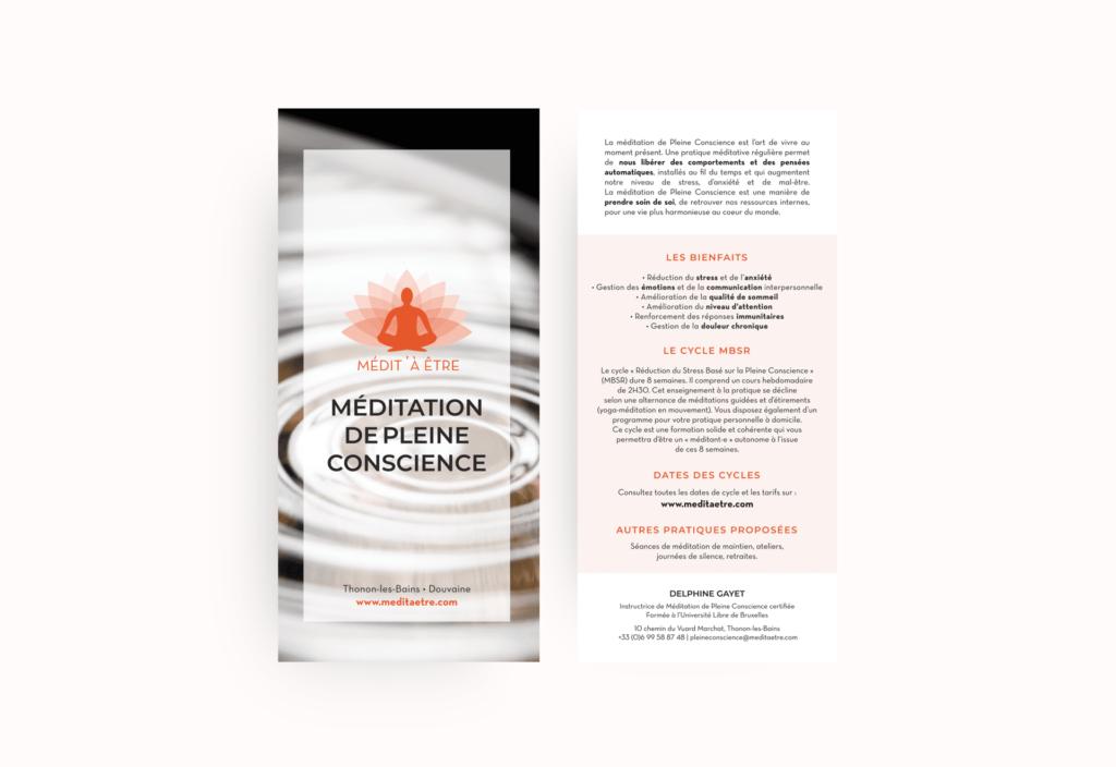 Création de plaquette Médit' à être La Marketerie agence de communication à Evian, Thonon et Annemasse