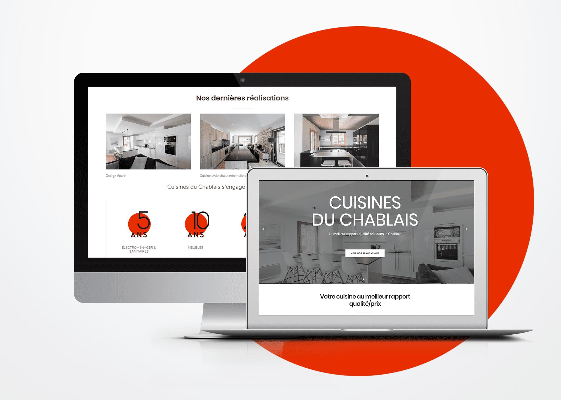 Développement de site internet responsive La Marketerie à Evian, Thonon et Annemasse