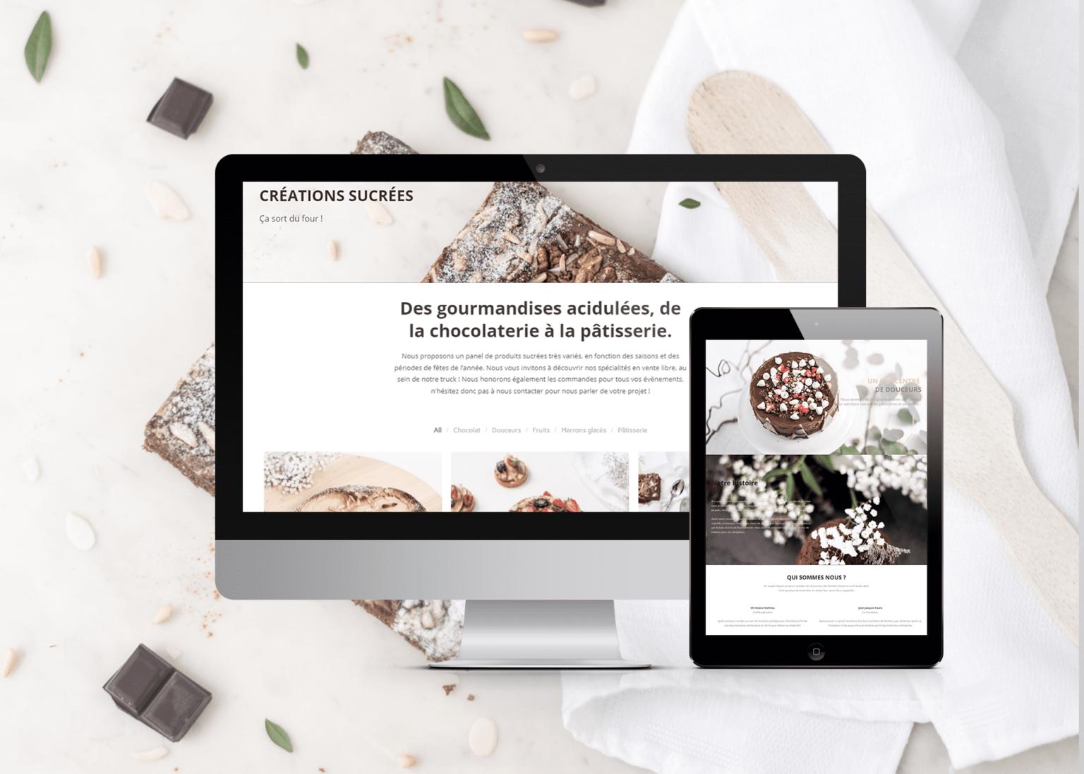 Conception de site internet responsive Les Gourmandises de Pandora à Evian, Thonon et Annemasse