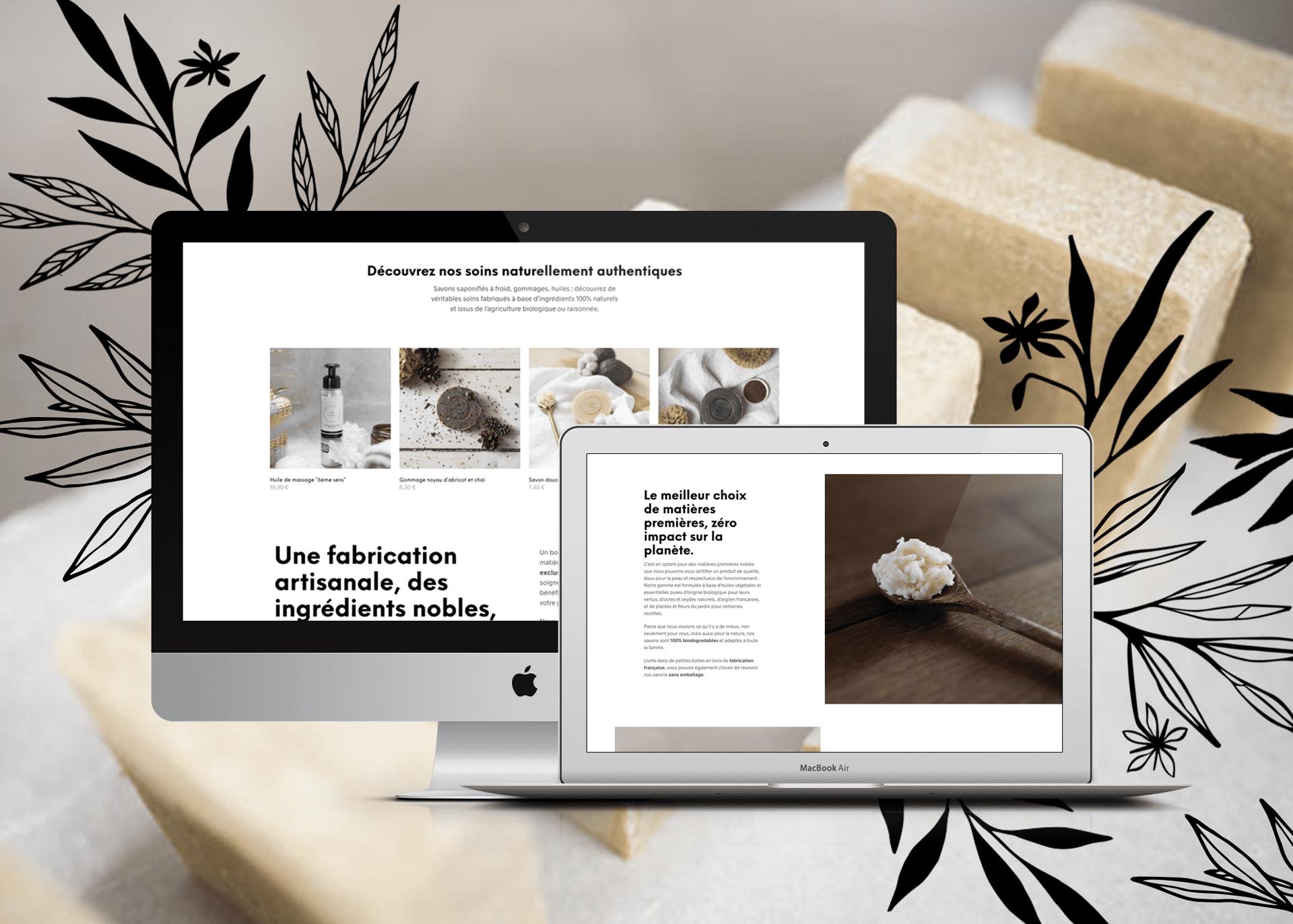 Conception de site web responsive SalySavons La Marketerie agence web à Evian, Thonon et Annemasse