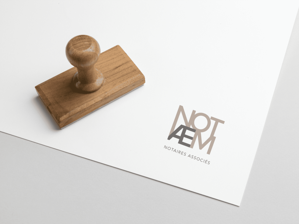 Support imprimé Notaem La Marketerie agence de communication à Evian, Thonon et Annemasse