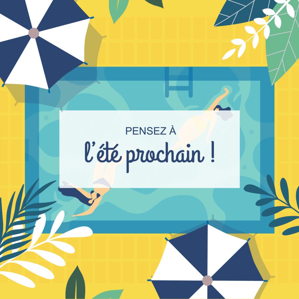 Création graphique Piscines Delembre La Marketerie à Evian, Thonon et Annemasse