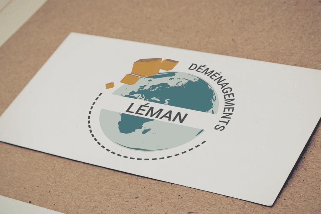 Fabrication sur mesure de carte de visite Léman Déménagements La Marketerie à Evian, Thonon et Annemasse
