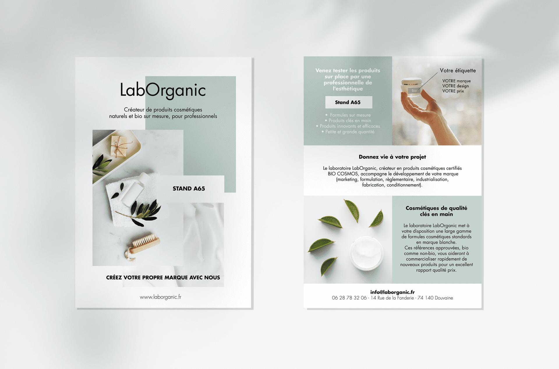 Diffusion d'informations avec flyer LabOrganic à Evian, Thonon et Annemasse