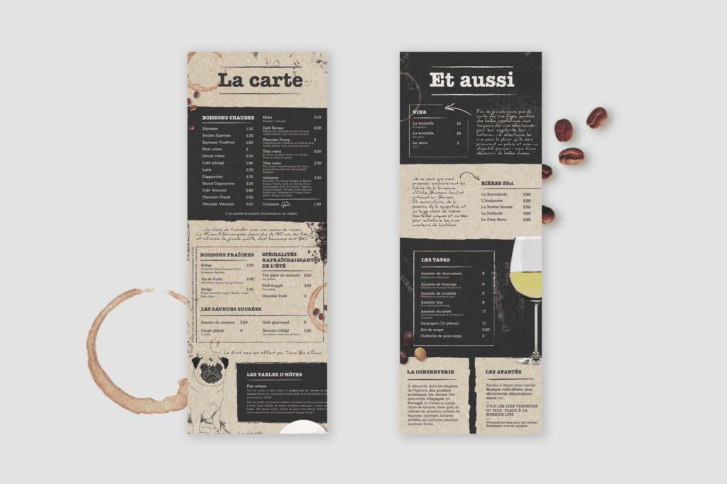 Impression de menu Tradition Café & Co La Marketerie à Evian, Thonon et Annemasse