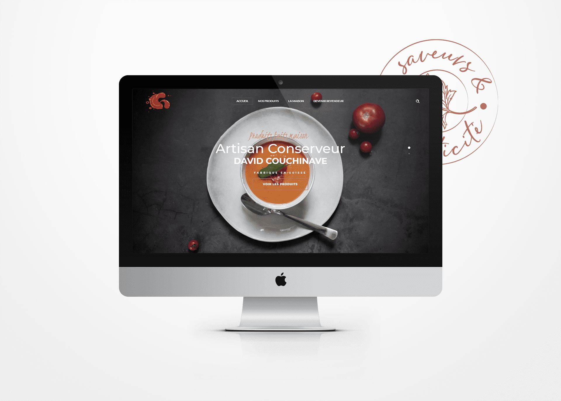 Création de site internet responsive Artisan Conserveur La Marketerie à Evian, Thonon et Annemasse