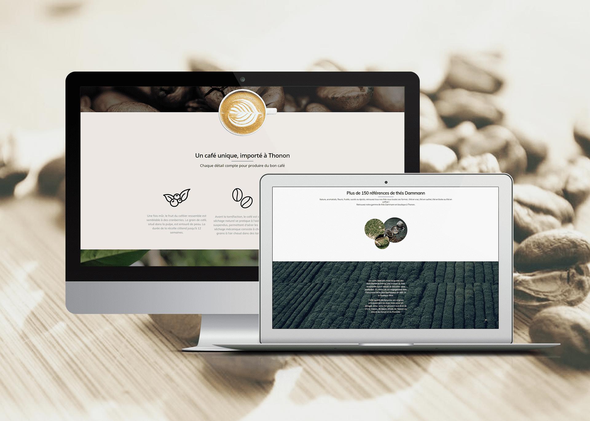 Création de site internet Café Béal La Marketerie agence web à Evian, Thonon et Annemasse