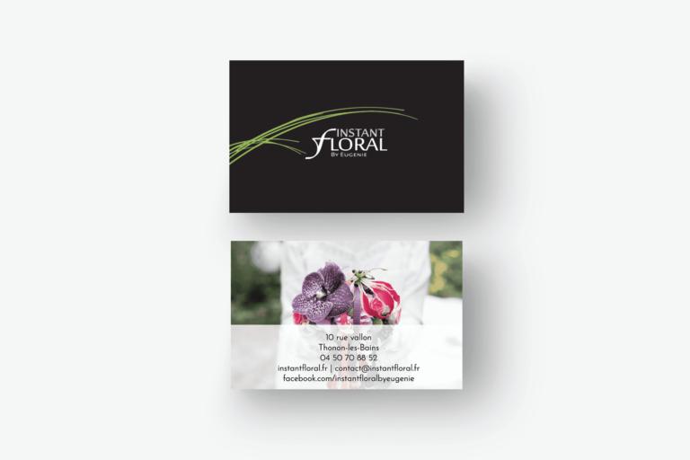 Élaboration de support imprimé Instant Floral La Marketerie à Evian, Thonon et Annemasse