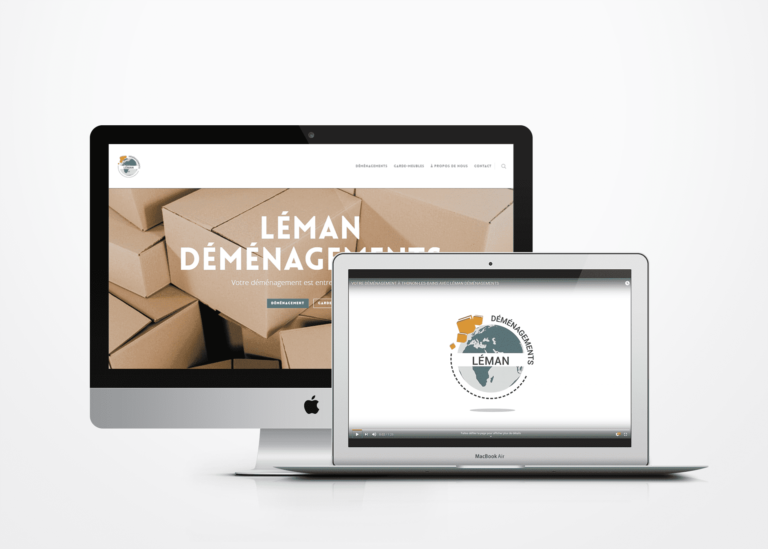 Création de site internet Léman Déménagements La Marketerie agence web à Evian, Thonon et Annemasse