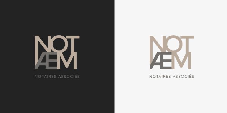 Déclinaison de logo Notaem La Marketerie de communication à Evian, Thonon et Annemasse