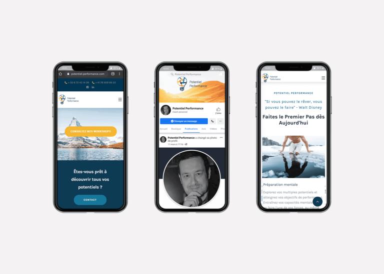 Amélioration de la présence sur les réseaux sociaux Potentiel Performance à Evian, Thonon et Annemasse
