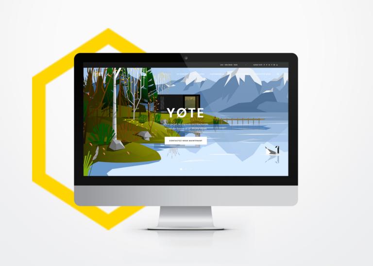 Réalisation de site web responsive Yote La Marketerie à Evian, Thonon et Annemasse