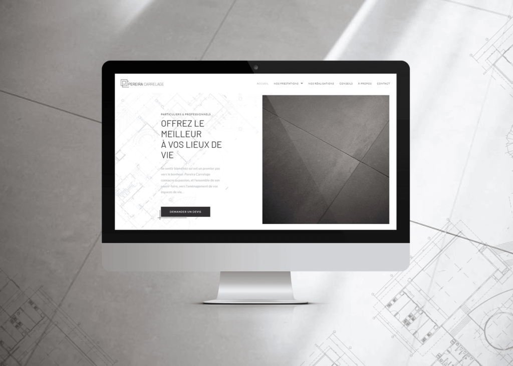 Développement de site internet responsive Pereira Carrelage à Evian, Thonon et Annemasse