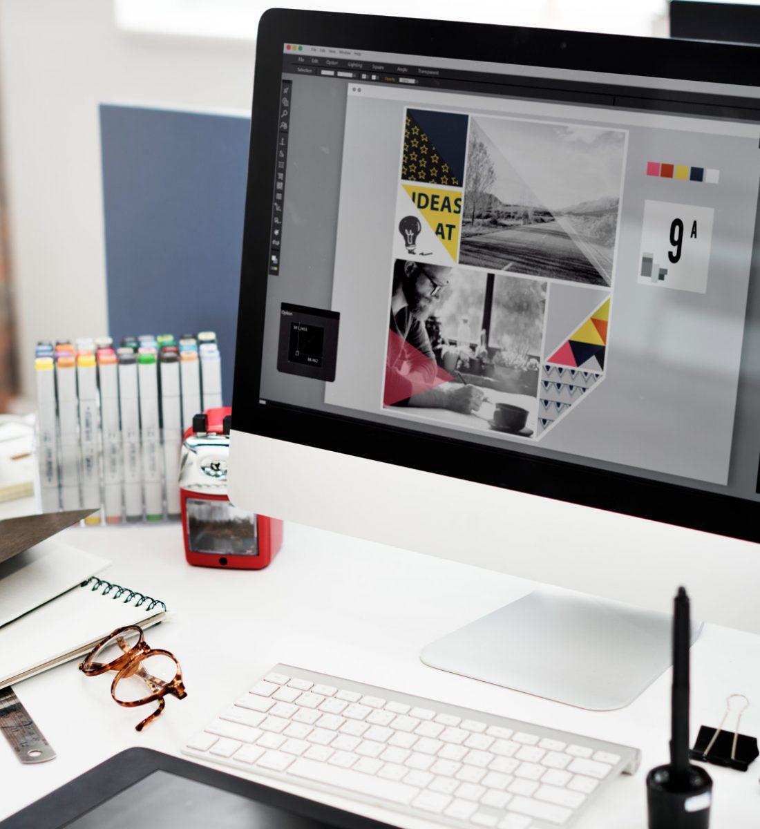 Conception d'identité visuelle La Marketerie agence de communication à Evian, Thonon et Annemasse